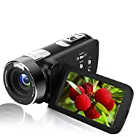 "Videocamera FULL HD 1080P Digital Camera con Telecamera IR Night Vision 24.0 MP Fotocamera Digitale Schermo LCD da 3""Zoom Digitale 18X Mini Videocamera"