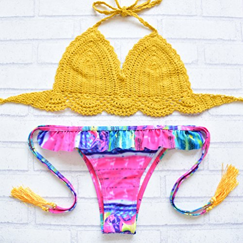 ... WanYang Damen Sexy Crochet Bikini Sets Strick Häkeln Badeanzug Bademode  Schwimmanzug Style  25 mlu6zqKIUW ... c063d19052