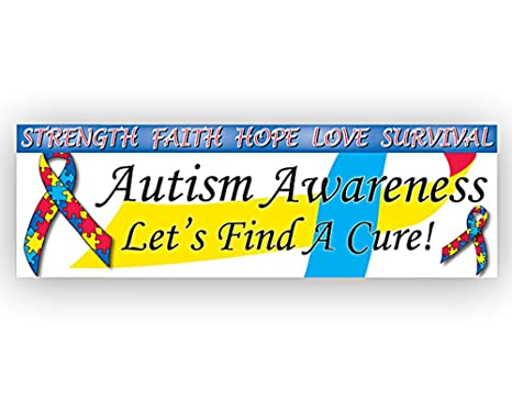 amazon com autism awareness find a cure banner 1 banner kitchen