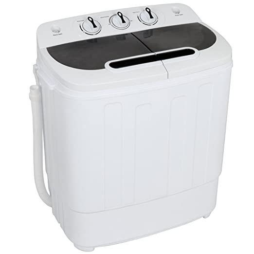 ZENY Portable Compact Mini Twin Tub Washing Machine 13lbs Capacity with  Spin Dryer, Lightweight Small Laundry Washer for Apartments, Dorm Rooms,RV\'s