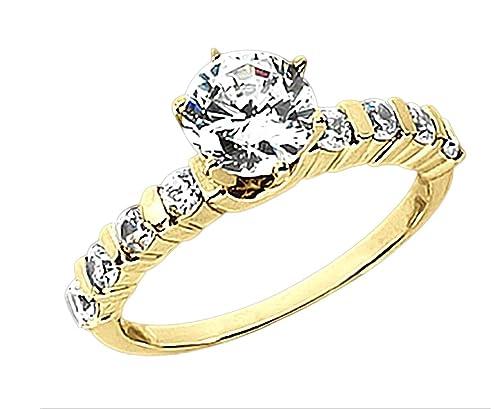 1.30 quilates diamantes solitario oro amarillo de anillos de boda