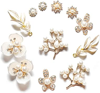 sewing wedding decoration Assorted with Gems Flower Embellishments crafts