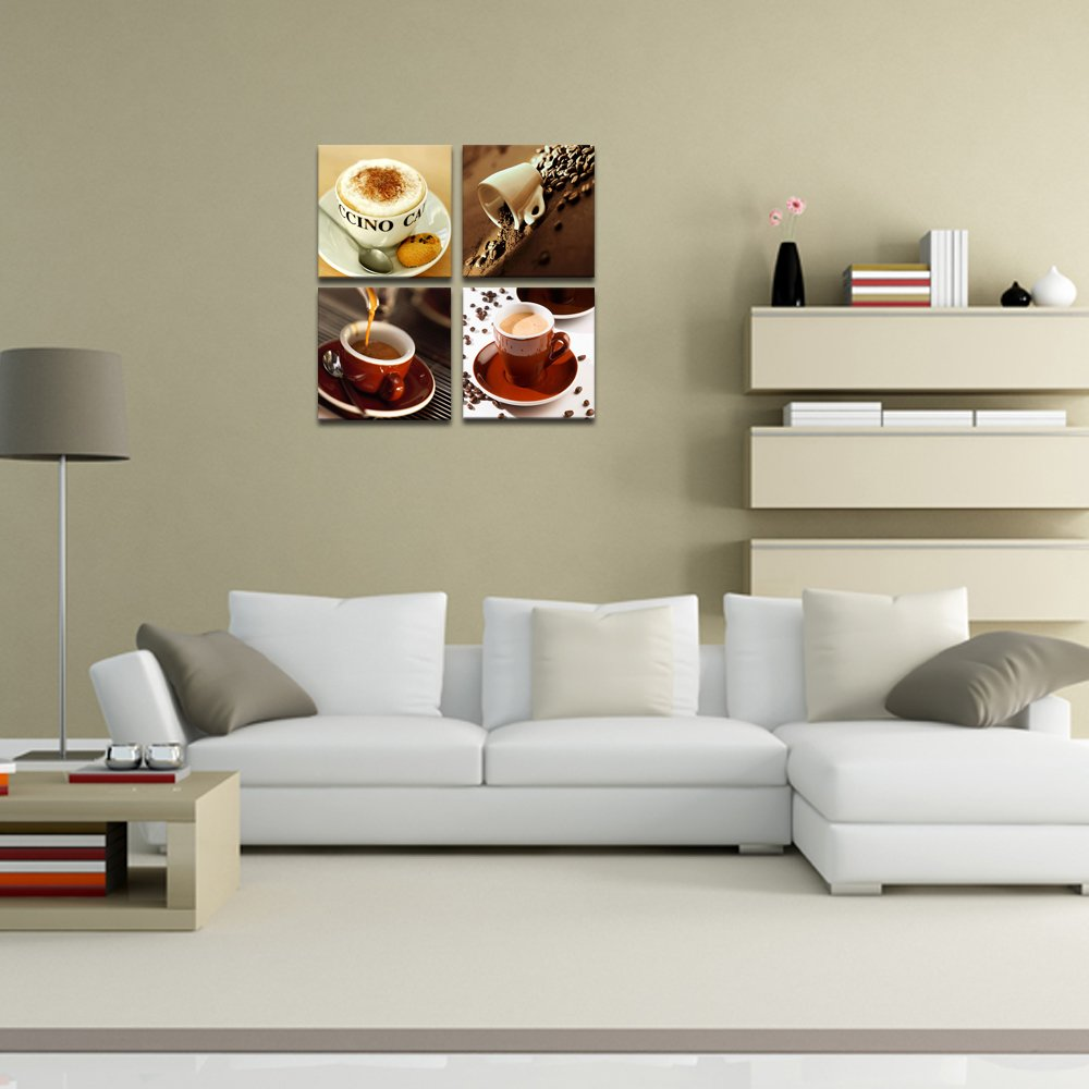 amazon com canvas wall art modern paintings classical delicate amazon com canvas wall art modern paintings classical delicate coffee cups wall decor canvas prints ready to hang coffee bar interior room home decor