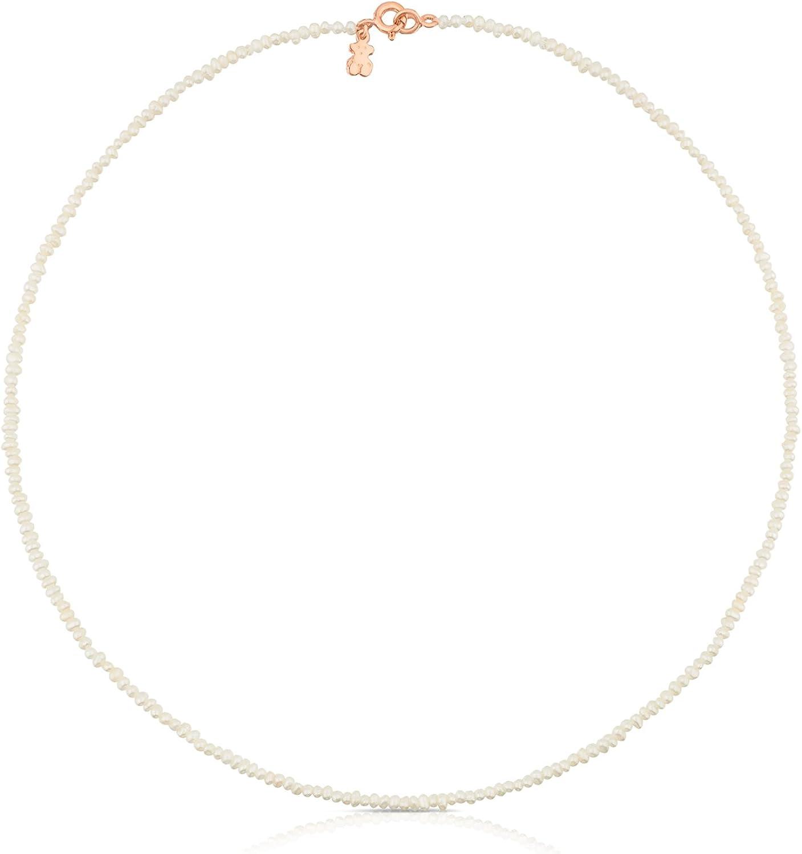 Collar TOUS Camille de plata vermeil rosa y perlas de 0,2 cm