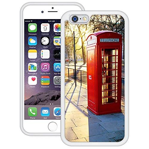 London Phone Booth   Handgefertigt   iPhone 6 6s (4,7')   Weiß TPU Hülle