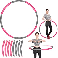 Yescom Detachable Hula Hoop Foam Padded Circle Waist Slimming Weight Loss Fitness Exercise Grey