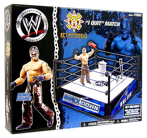 WWE Smack Down Rey Mysterio I Quit Ring Playset (Rey Mysterio Ring)