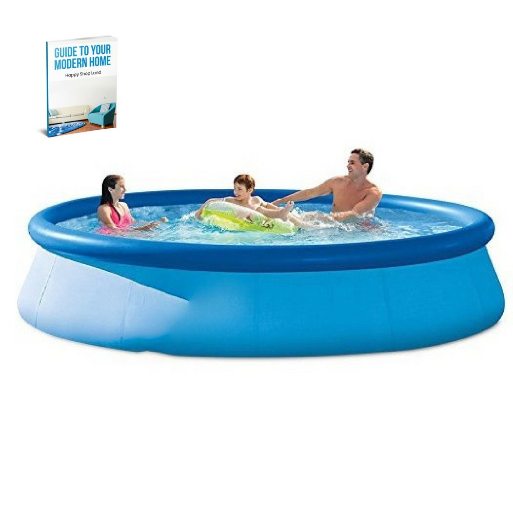 Round Inflatable Pool, Lightweight For Easy Transportation, Easy Inflation / Deflation, Ideal For Children Over 3 Years Old, Repair Cover Included, Filter Pump, Sturdy And Durable Construction &-Book by S.N