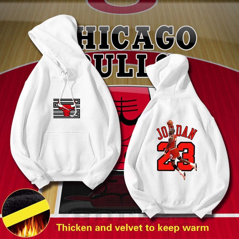 HEJX Bull 23 Jordan Basketball-Sweatshirt warm und samt Kapuzenpullover männlich 3