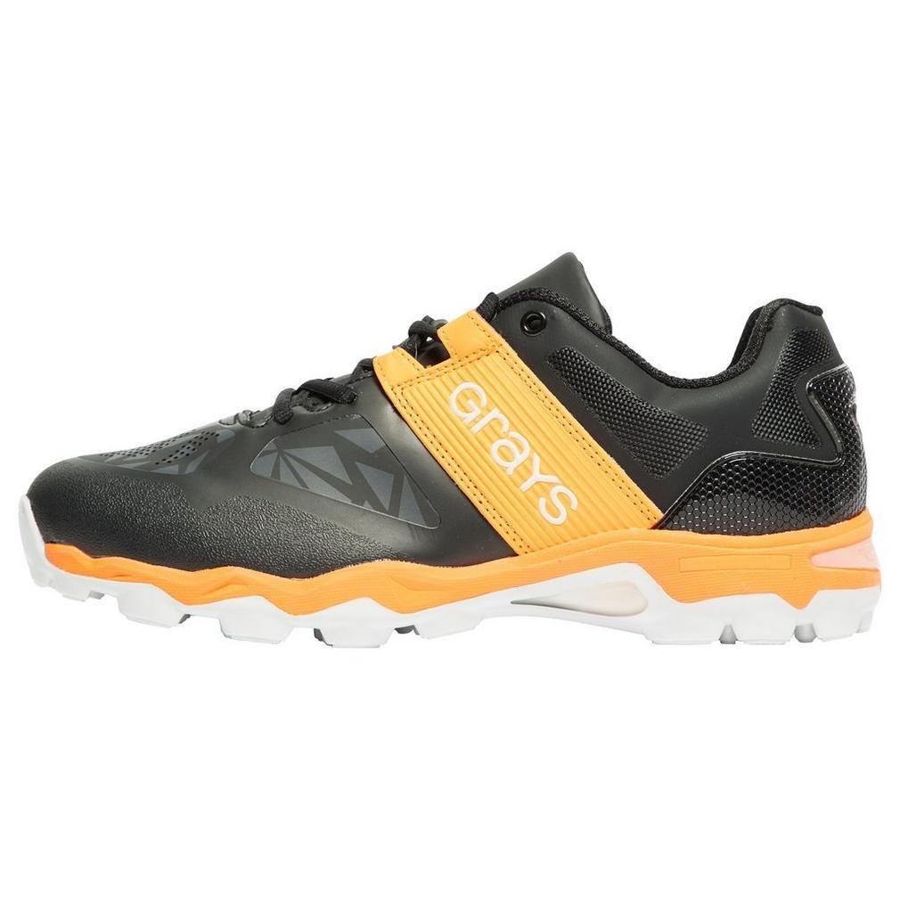 New Greys Mens Traction Hockey Chaussures Chaussures de Sport Noir/Orange