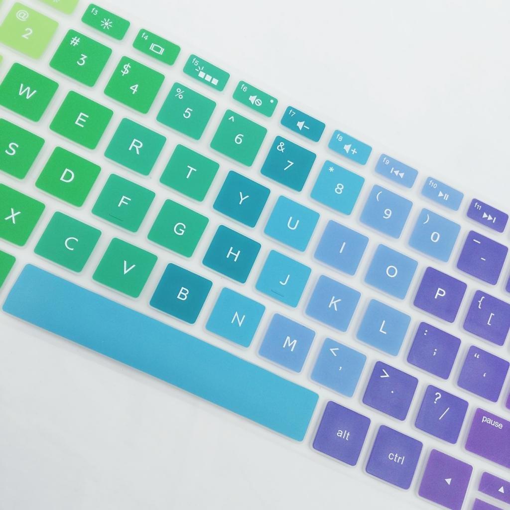 non-brand Gazechimp Cubierta de Piel de Teclado de Escritorio Funda Protectora de Silicona para HP 15.6 Pulgadas Azul