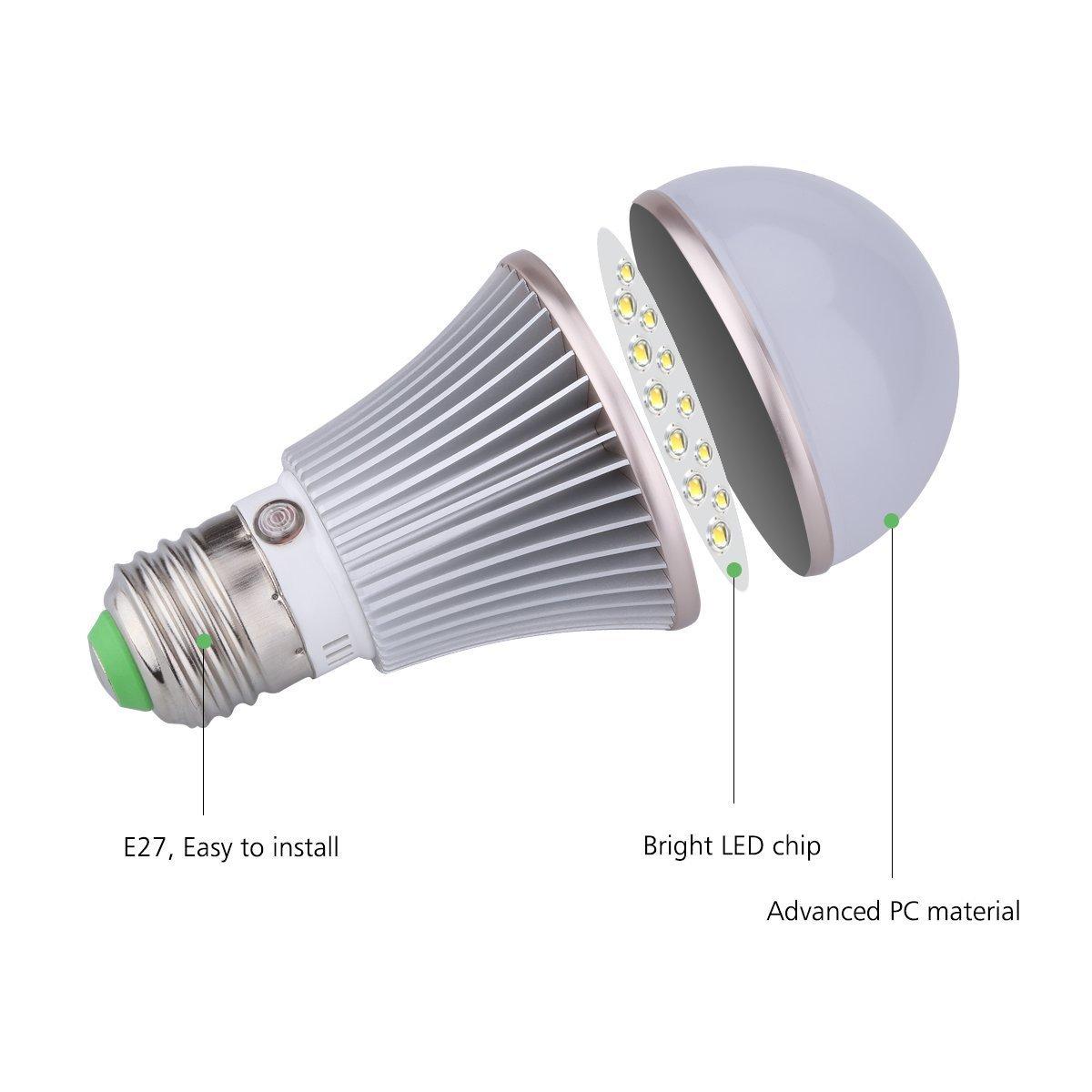 2 Pack Dusk to Dawn Light Sensor Bulb, E27 5W Lamp Post, Sensor Security Bulb Fence Post Light Outdoor with Photosensor Detection Indoor Lighting Lamp Porch Hallway Patio Garage Warm White 3000K