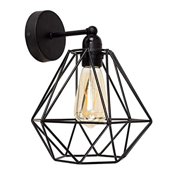 Luz de Pared de Jaula de Alambre Vintage de Bricolaje, Iluminación ...