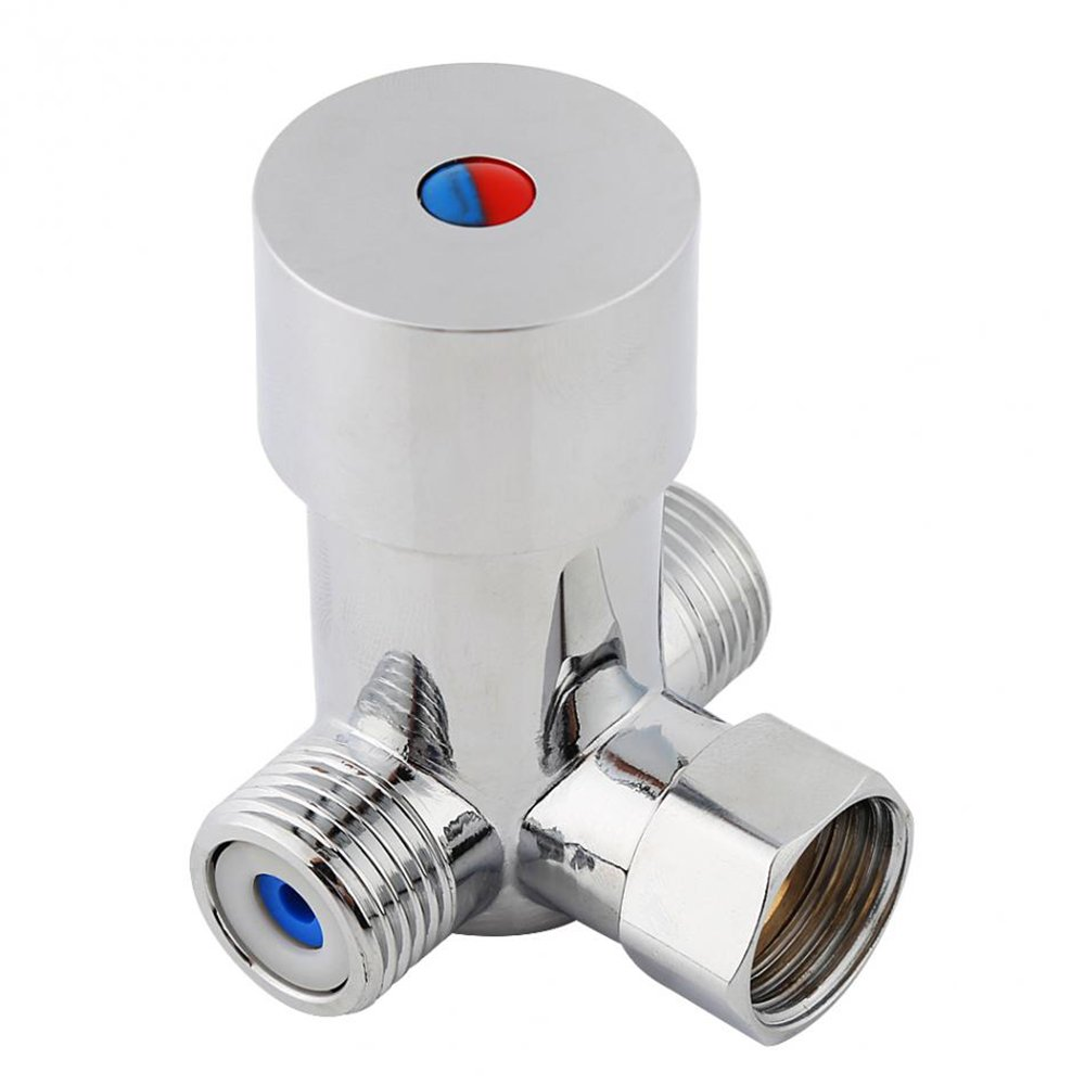 Hot & Cold Water Mixing Valve Temperature Control Thermostatic Mixer for Automatic Sensor Faucet