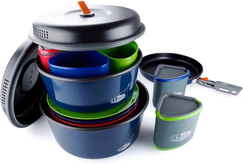 GSI Camping Koch Vaisselle Set Bugaboo Casserole Poêle Outdoor Cuisine empilable 23tlg