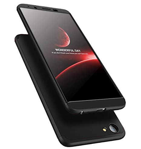 sale retailer bf869 a3d1e Vivo Y71 Ipaky 360° Full Body Front & Back case Cover with Temperd Glass  (Black)