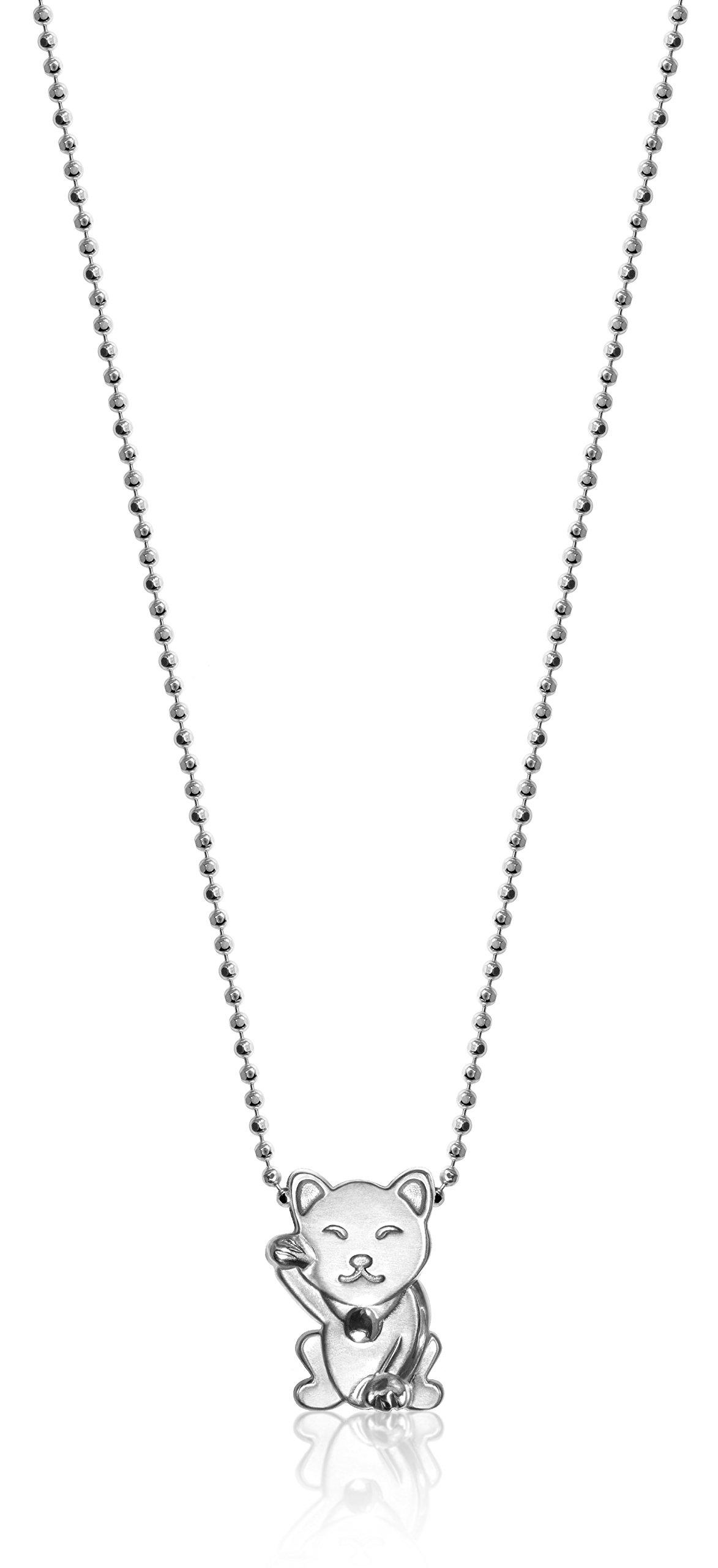 Alex Woo ''Little Luck'' Silver Cat Pendant Necklace