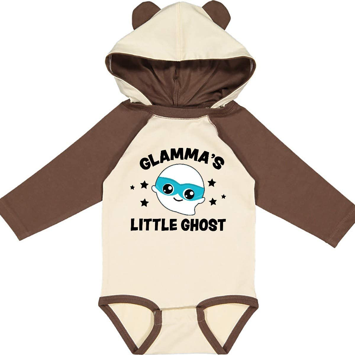 inktastic Cute Glammas Little Ghost with Stars Long Sleeve Creeper