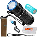 Olight S1R II 1000 Lumen Rechargeable EDC Flashlight with Battery, Magnetic Charging Cable and LumenTac Organizer (S1R Upgrade)