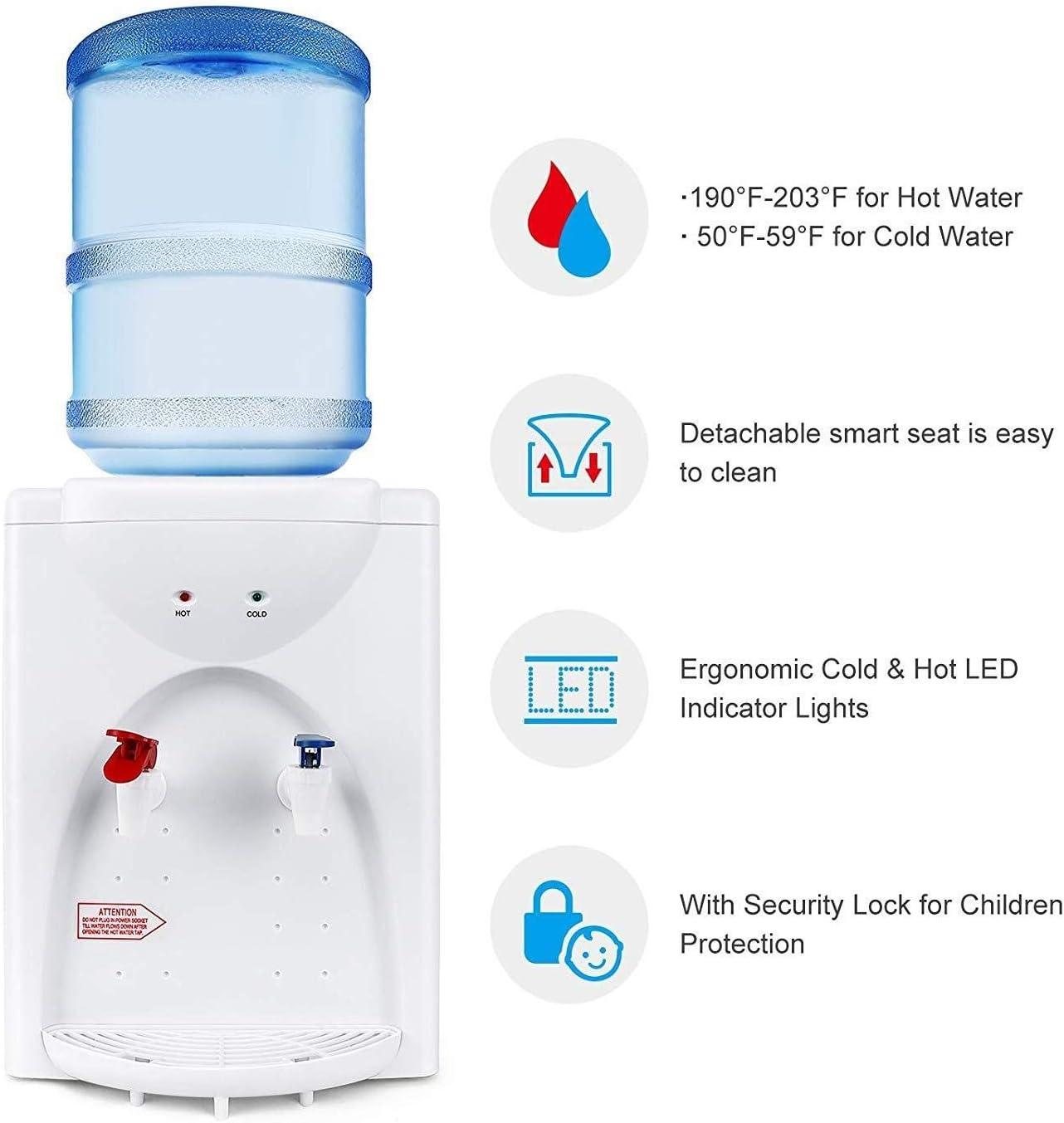 Escritorio Dispensador De Agua De Calefacci/ón Peque/ña M/áquina De Agua Potable Hogar Mini Agua Dormitorio Dispensador LIUYUNQ Drinking fountains