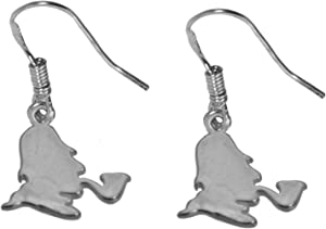 prince of diamonds SHERLOCK HOLMES Real sterling silver 925 Earrings Jewelry private detective New
