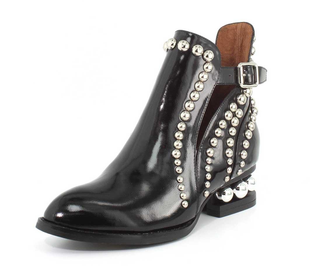 Jeffrey Campbell Womens Rylance Studded Boot B075FFBB13 9 B(M) US|Black Box Silver