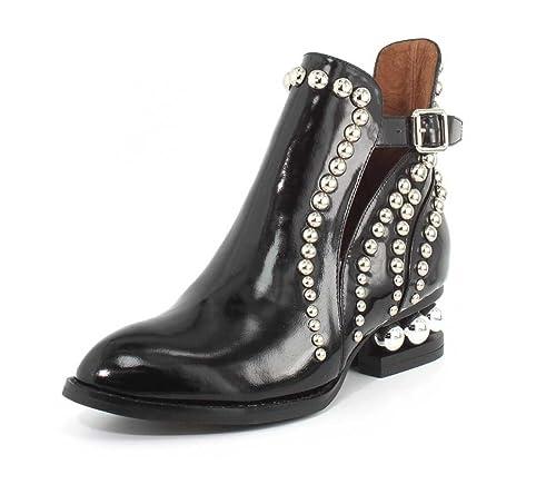 8e70e030d1a Jeffrey Campbell Womens Rylance Studded Black Box Silver Boot - 7 ...