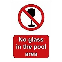 Piscina Sign: No Cristal en la zona