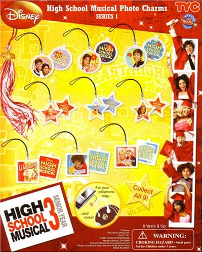 High School Musical 3 Photo Charms Capsule Toys Set of 9 vending toys