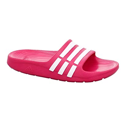 3693f9878 Image Unavailable. Image not available for. Color  adidas Duramo Slide Kids  Size 5 Pink White