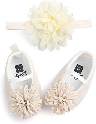 Toddler Infant Baby Girl Crib Prewalker Mary Jane Shoes With 3D Flower