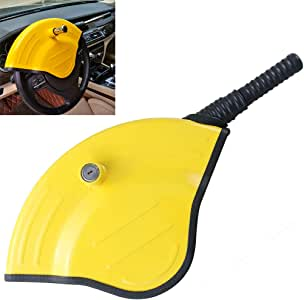 KAYCENTOP Universal Car Steering Wheel Lock - Full Cover Airbag Lock Anti Theft Locking Device with Highly Bright Visible Color for Most Vehicles Such As Car SUV Pickup, Great Deterrent to Car Thief