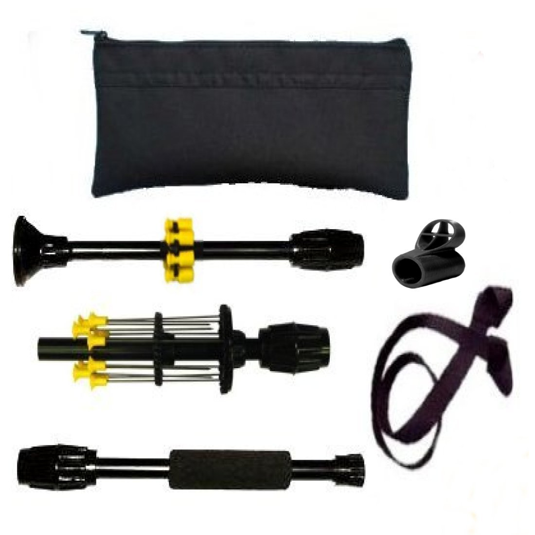 36'' Venom Blowguns Stow-away™ Collapsing Black .40c Blowgun with Darts Made in USA