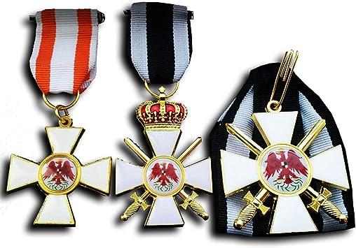 Replicamilitarymedals Medalla Militar Orden del Águila Roja 1ª 2ª Clase 3ª Prussian WW1 Juego de medallas alemanas Repro: Amazon.es: Juguetes y juegos