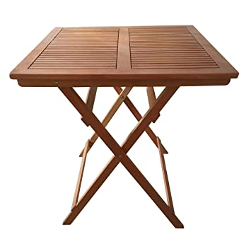 Amazon De Sedex Linus Gartentisch 70x70 Cm Klapptisch Holztisch
