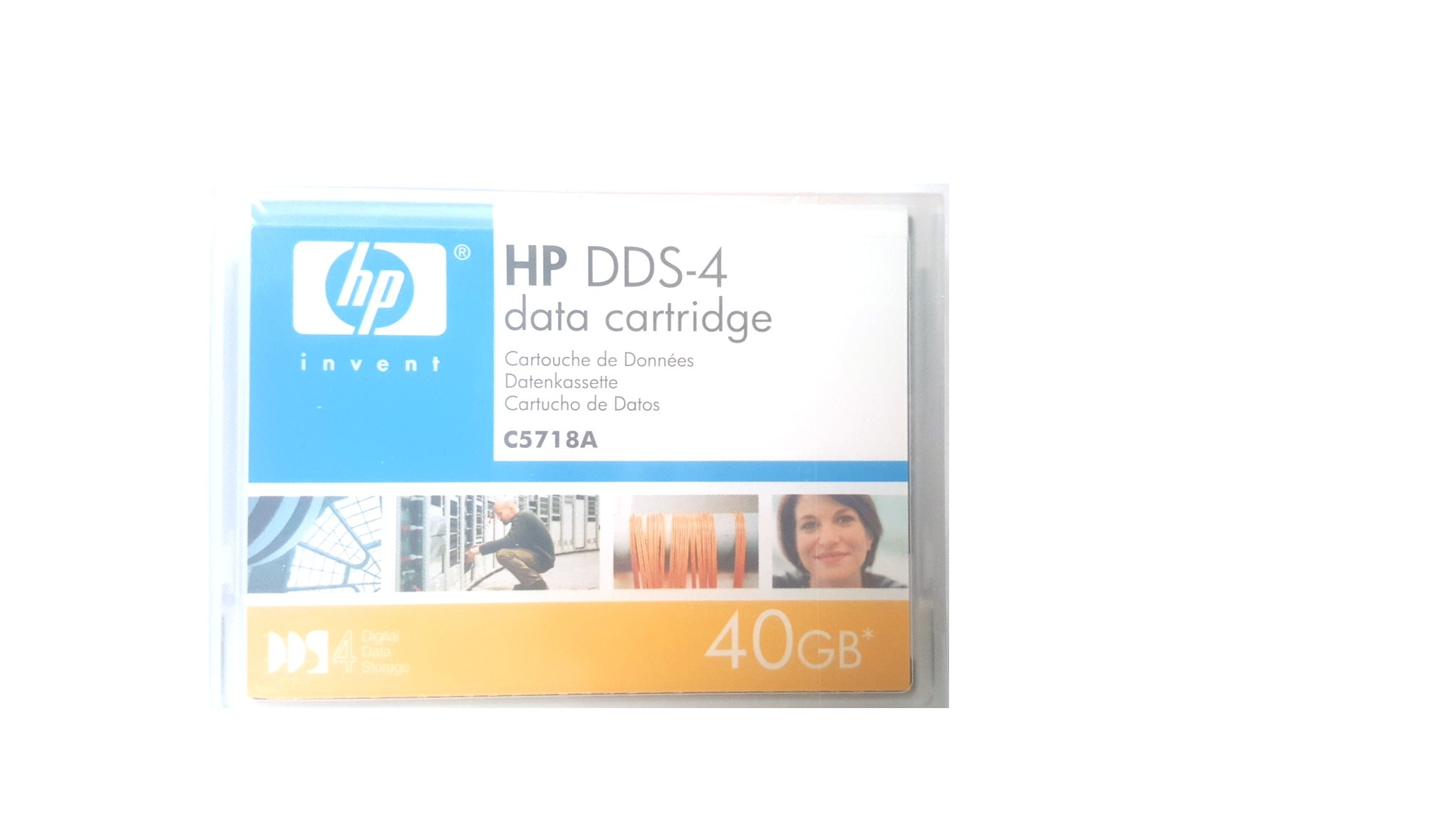 HPE Storage BTO C5718A DDS 4 40GB 150M Data Cartridge by HEW