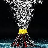 Sunyiny Aquarium Decor Small Air Bubble Stone Volcano Oxygen Pump Resin...