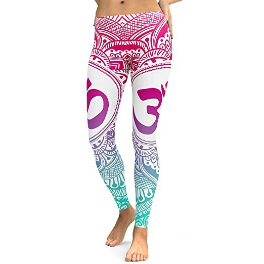 c332e220ba984 Women's Yoga Pant Digital Printed Full-Length Thin Workout Leggings Long  Trouser