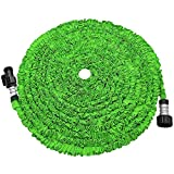 POYINRO Expandable Garden Hose, Strongest Expanding Garden Hose on The Market with Triple Layer Latex Core & Latest Improved Extra Strength Fabric Protection for All Your Watering Needs(Green)