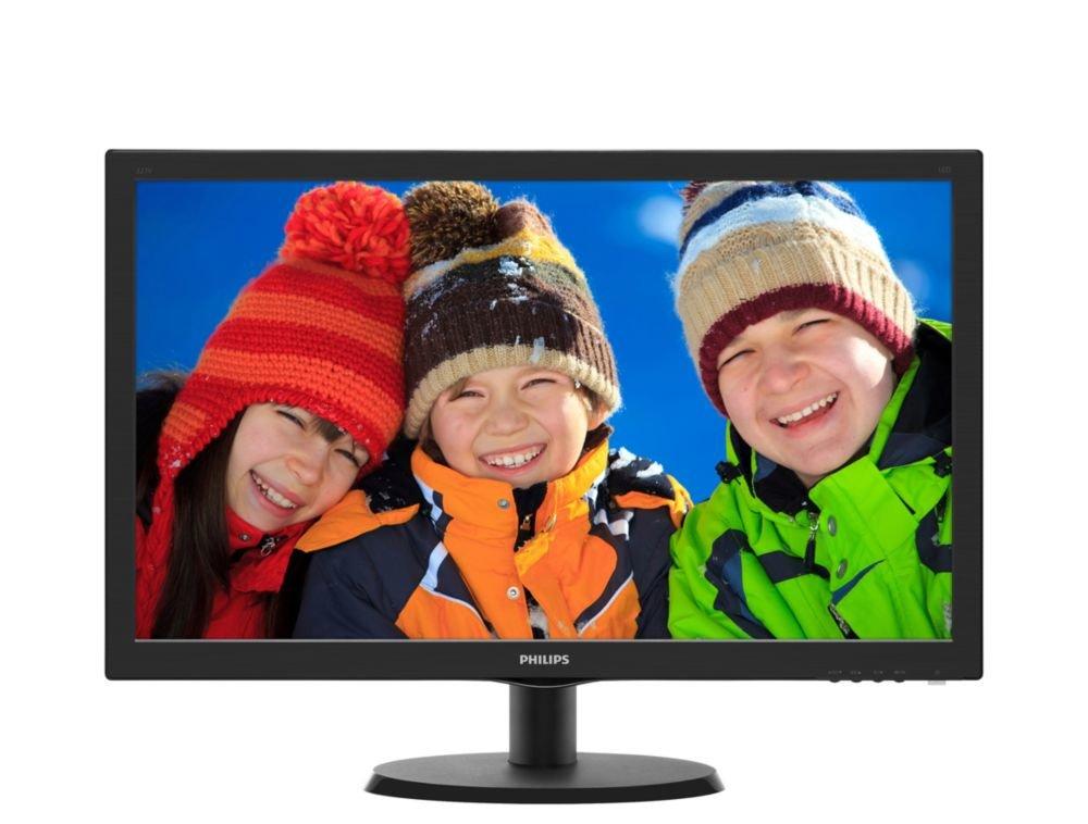 "Philips 243V5LHSB/00 - Monitor para PC (23.6"", Resolución 1920 x 1080 Pixels, Tecnología WLED, Contraste 1000:1, 1 ms, VGA), Negro"