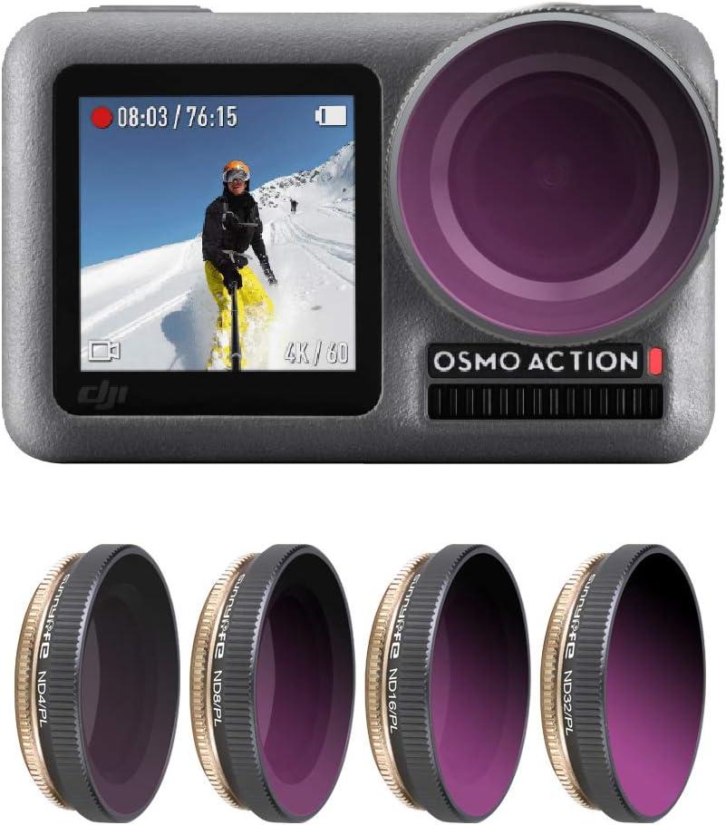 Flycoo2 ND-PL Lens Filter Set for DJI Osmo Action Camera Filters ND4//PL + ND8//PL + ND16//PL + ND32//PL