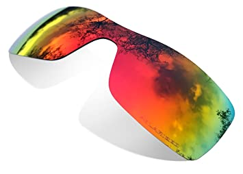 Sunglasses Restorer Lentes de Recambio Polarizadas Ruby Red para Oakley Batwolf