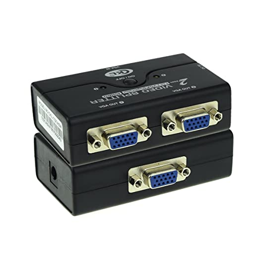 6 opinioni per Mini 1 Input 2 Output VGA Splitter Box with ON/OFF Button Support for VGA, XGA,