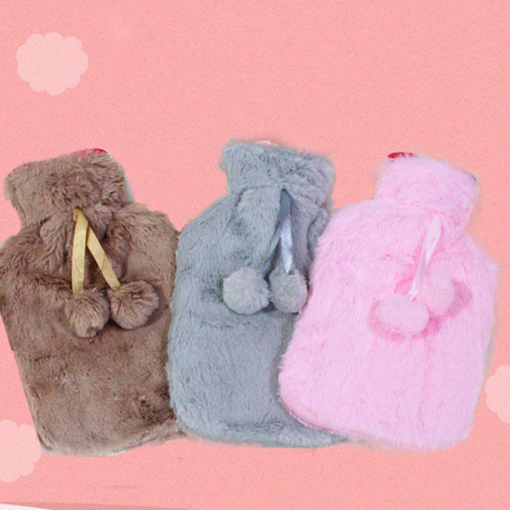 Hunpta@ Hot Water Bottle,Water Injection Hot Water Bottle Winter Plush Portable Warm Water Bag Reusable Can Be Heated by The Microwave Oven Hand Warmer