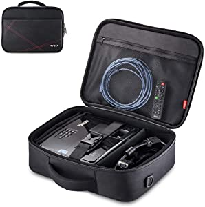 """Projector Case, Projector Travel Carrying Bag Internal Dimension 14.5""""x10.6""""x3.9"""" with Adjustable Shoulder Strap & Compartment Dividers for for Acer, Epson, Benq, LG, Sony (Large)"""