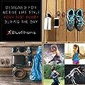 Bluephonic Sports Bluetooth Wireless Headphones, Audio Beat HD Sound, Perfect Running & Workout Secure Fit In Ear Earbuds, Sweatproof Waterproof IPX7 Earphones, Noise Cancelling w/ Mic & Case ,Black