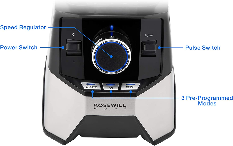 Rosewill Professional Blender, Industrial Power High Speed Commercial Blender, Quiet 1400 Watt 33000 RPM Motor – RHPB-18001