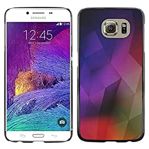 LECELL--Funda protectora / Cubierta / Piel For Samsung Galaxy S6 SM-G920 -- Geometrical Structure Modern Art Colorful --