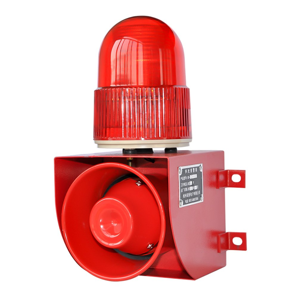 YS-01 AC110-120V Industrial Sound and Light Alarm Emergency Warning Voice Outdoor Waterproof Alarms by new brand