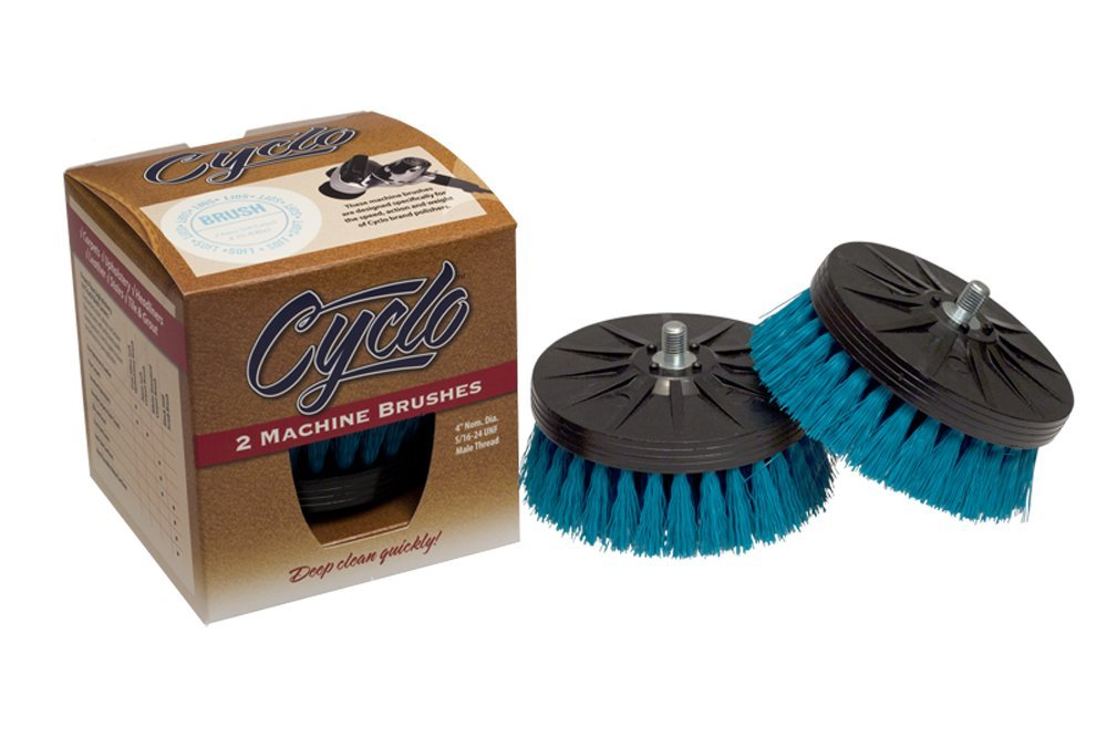 Cyclo (76-830x2-2PK) Shampoo Brush with Aqua Soft Bristles, (Pack of 2) by Cyclo Toolmakers